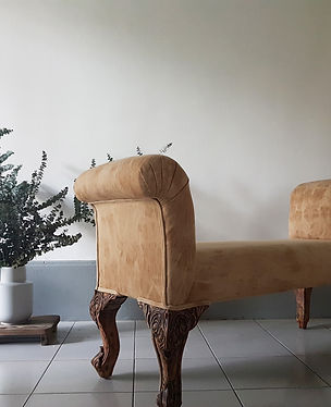 Soft bench, reupholstered furniture