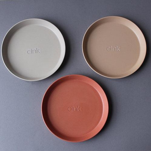 Bamboo Plate 3-Pack: Fog/Rye/Brick