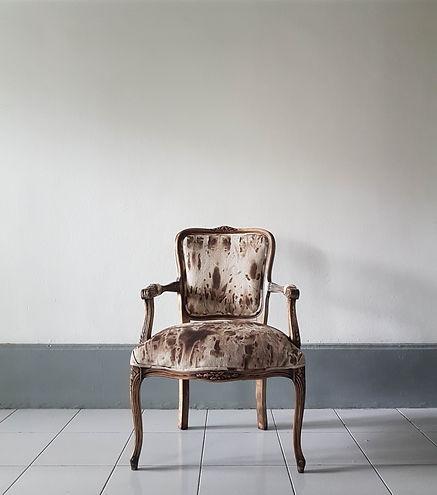Accent chair. Artist atelier in Singapor