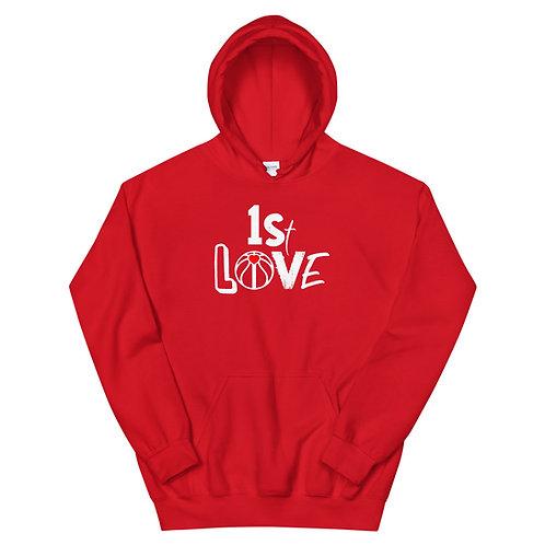 1st Love (White Ink) Unisex Hoodie