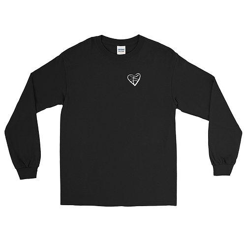 1st Love (White Symbol) Men's Long Sleeve Shirt