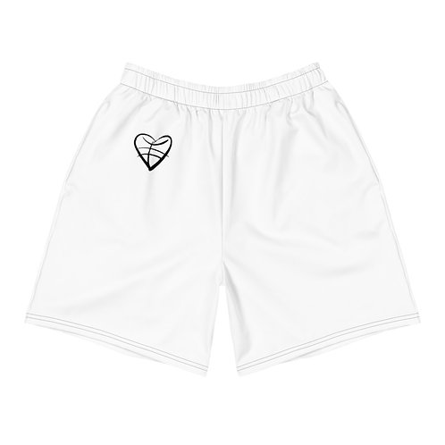 1st Love (Black Symbol) Men's Athletic Long Shorts