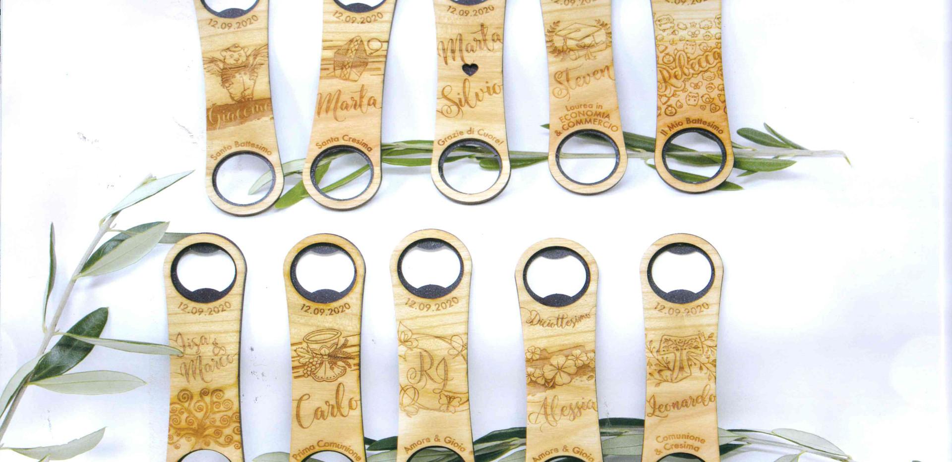 Apri bottiglia personalizzazione in legno
