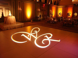 Monogram projection and name in lights