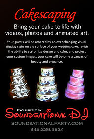 Cakescaping and projection mapping