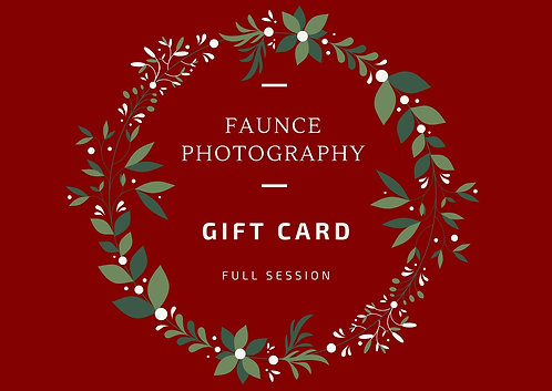 Faunce Photography Gift Card - Full Session