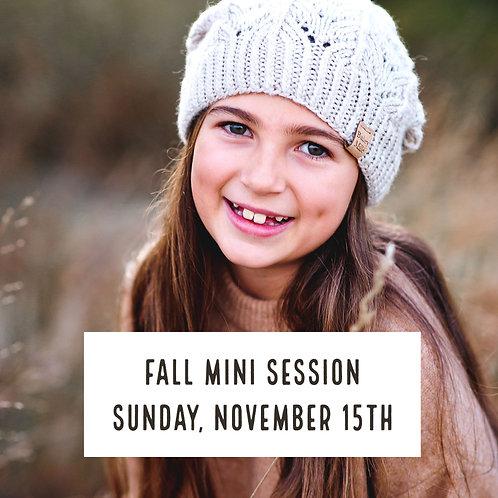 Fall Mini Session - Sunday November 15th