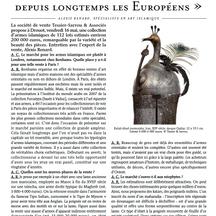 Le Quotidien de l'Art, Mai 2014