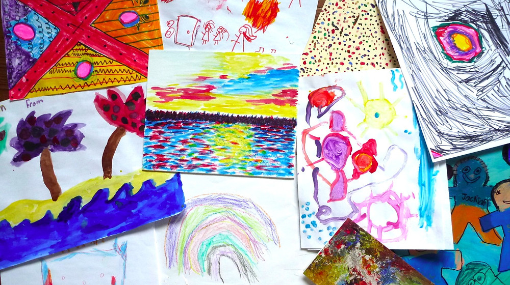 Kids create the darnedest things. My collection of children's work from overt he years.