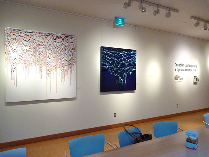 Cascade Collection is hanging in the AGO