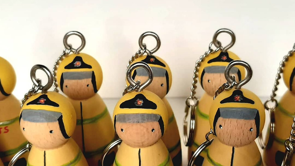 Personalised Firefighter Peg Doll