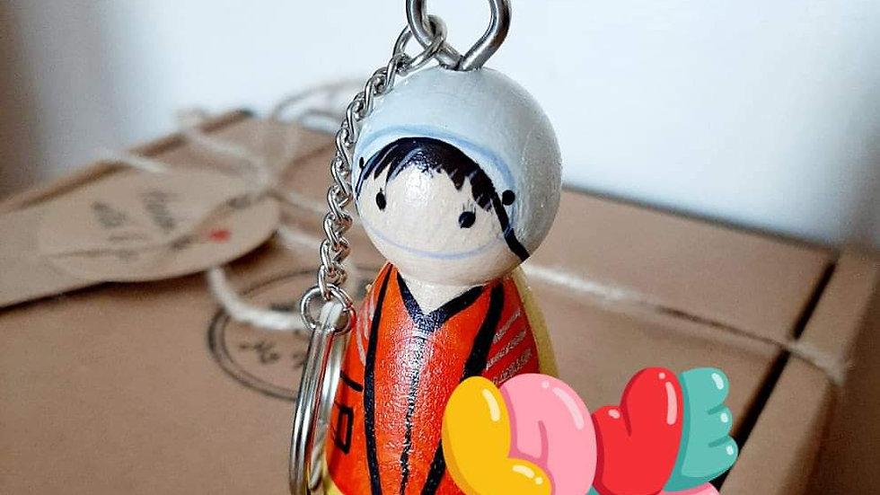 Life Boat Crew Peg Doll Key Ring