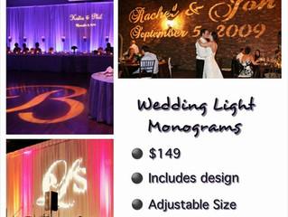 New Product Offered: Custom Wedding Light Monograms