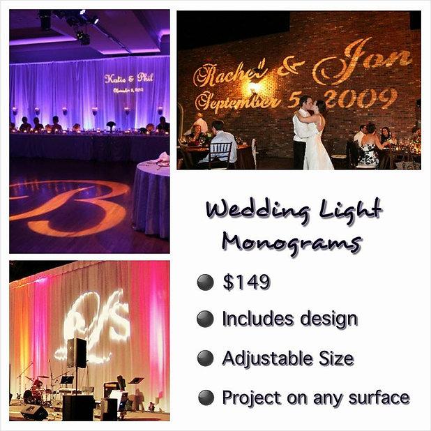 Custom Wedding Light Monograms Oklahoma City