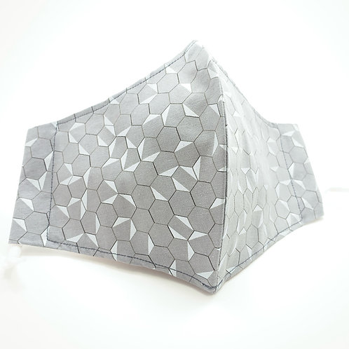 Silver Sacred Reusable Japanese cotton face mask with sleeve