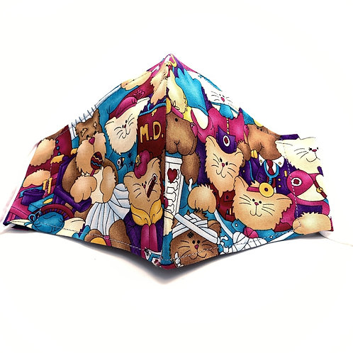 Medical Cats Reusable style face mask with sleeve