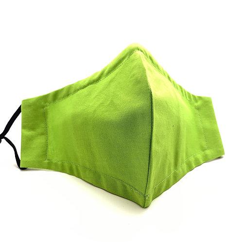 Green Neon Reusable 100% cotton face mask w/ filter