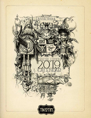 Lárt Fantastique 2019 calendar.