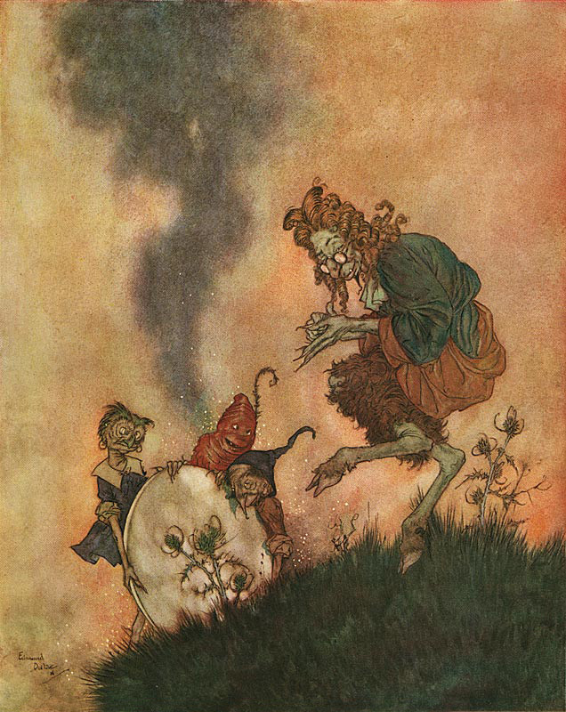 "Edmund Dulac, llustration from The Snow Queen in ""Stories from Hans Andersen"" (1911)"