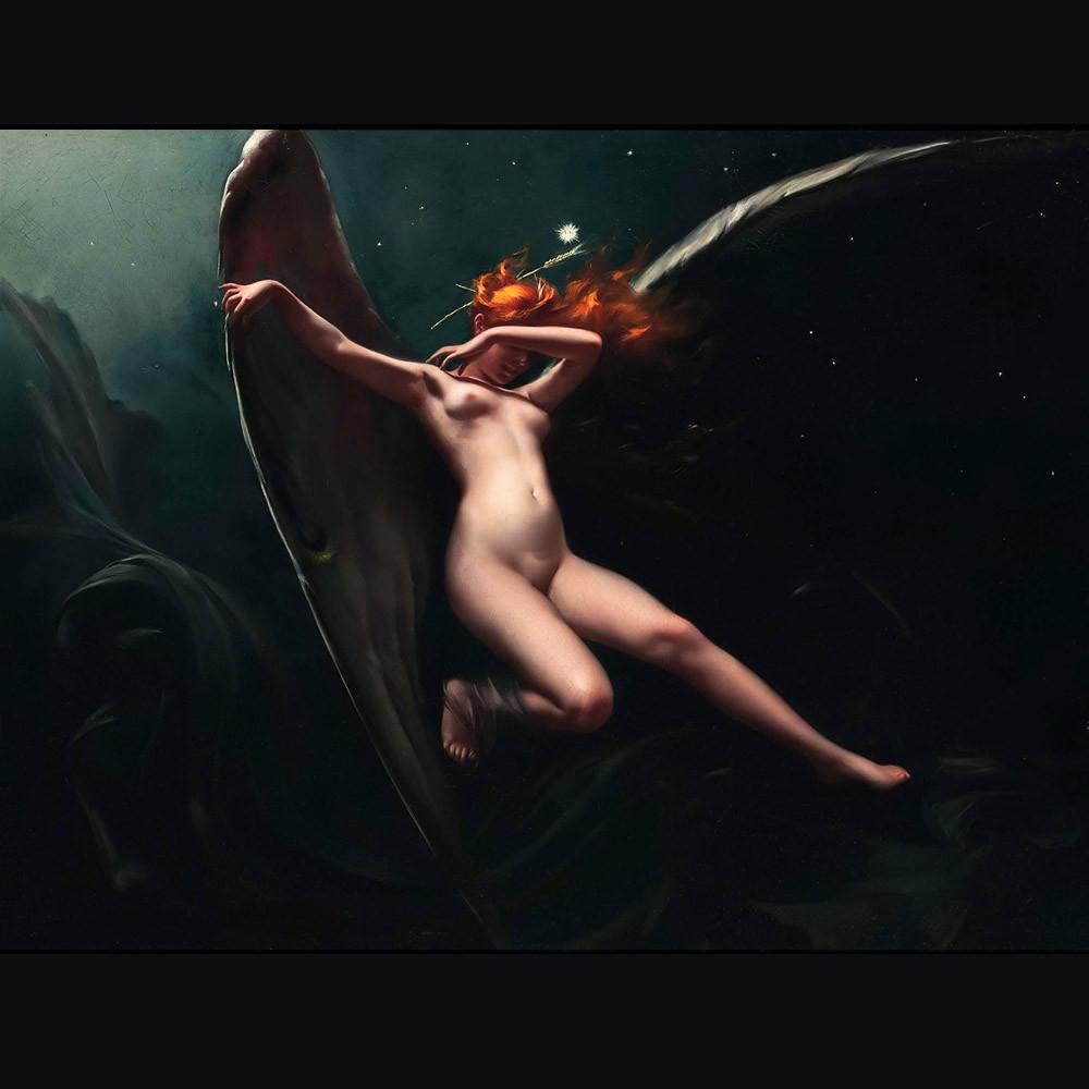Luis Ricardo Falero - A Fairy Under Starry Skies