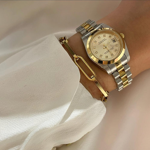 Bicolor watch