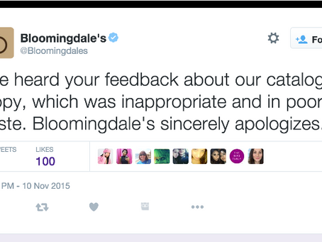Ill-Worded Advertisement leads to impersonal apology
