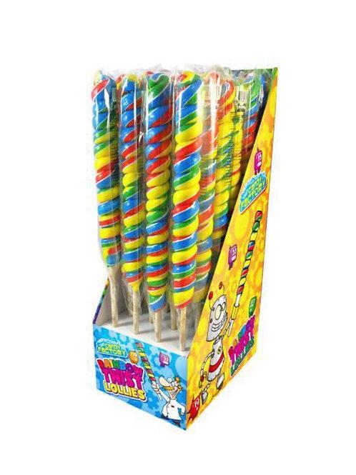 Rainbow Twist Lollies