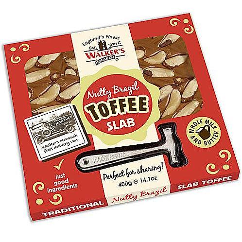 Walkers Nutty Brazil Toffee Slab