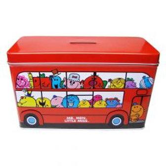 Mr Men & Little Miss Cookie Filled Bus Tin