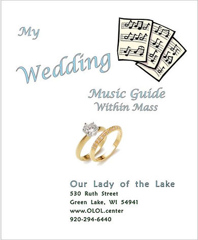 Wedding Pamphlet Music within Mass OLOL.