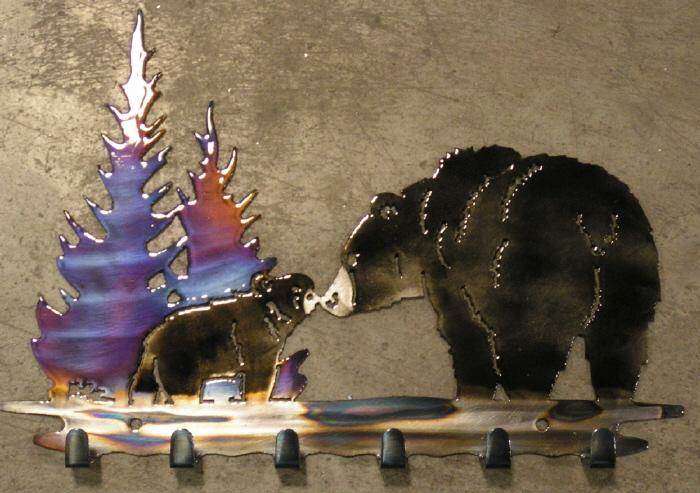 Buffalo Key Holder Metal Art Rustic Lodge Hinting Cabin Wall Decor USA Made