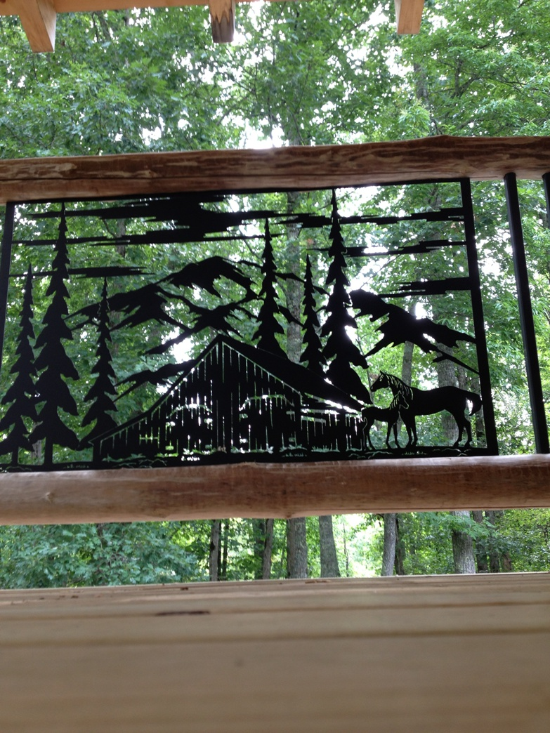 Rustic metal art railing