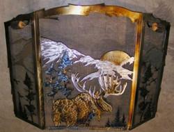 Metal art fire screens