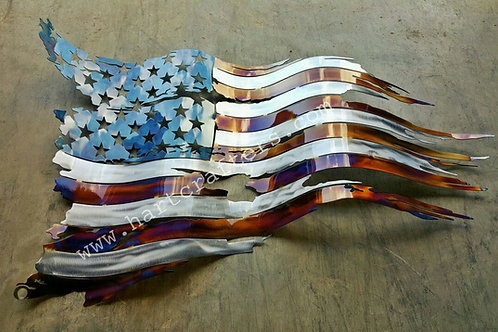 battle,worn,american,flag,torched