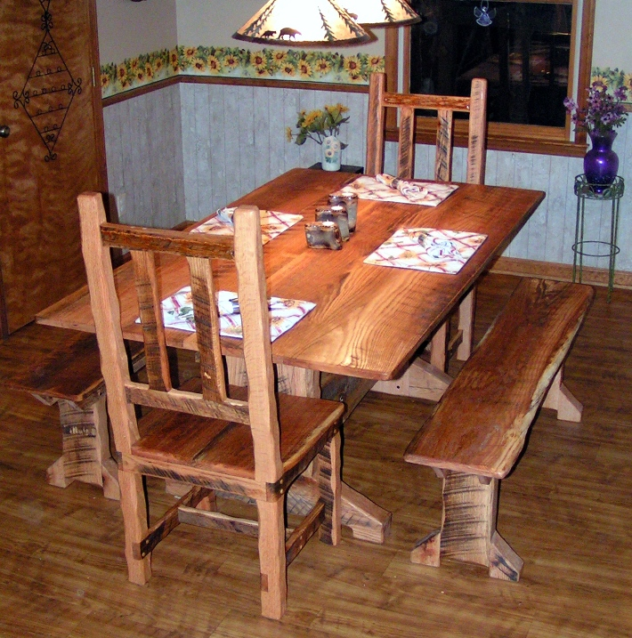 Barn wood dining romm set