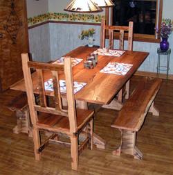 Barn wood dining romm set