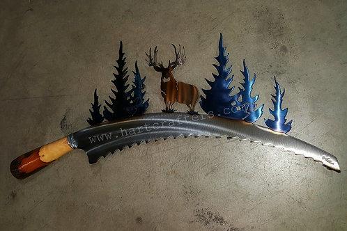 rustic,mule,deer,wall,art