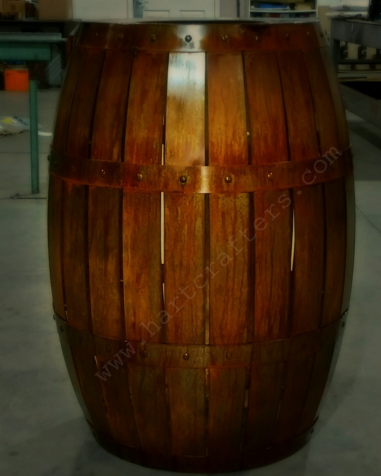 Steel Wine Barrel