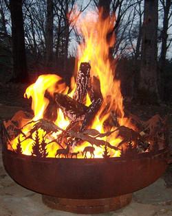 Rustic metal art Fire Pits