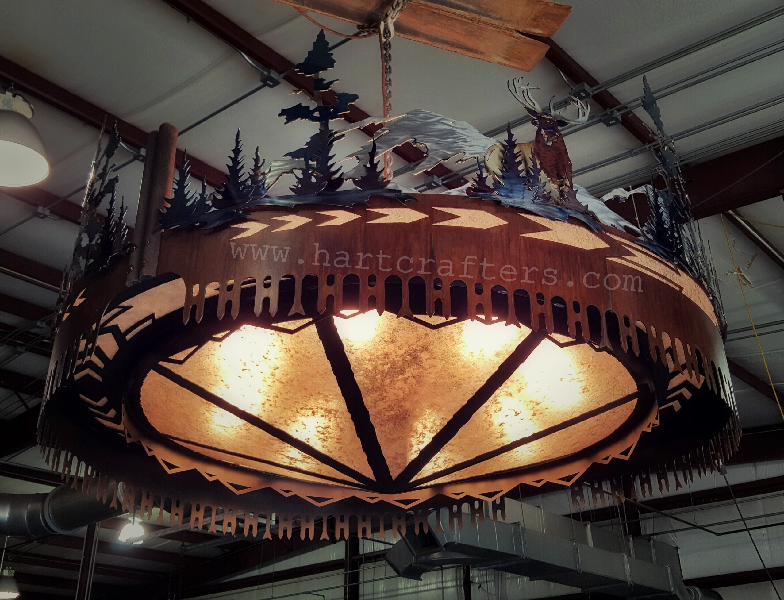 Metal art chandelier CCSC54S