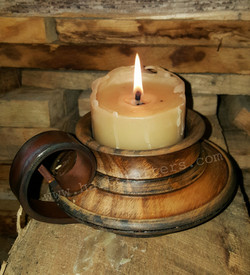 Turned candle holders