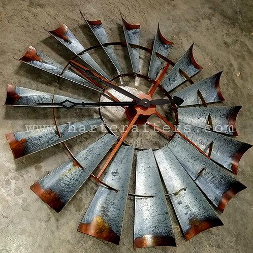 Industrial Windmill Head Clocks