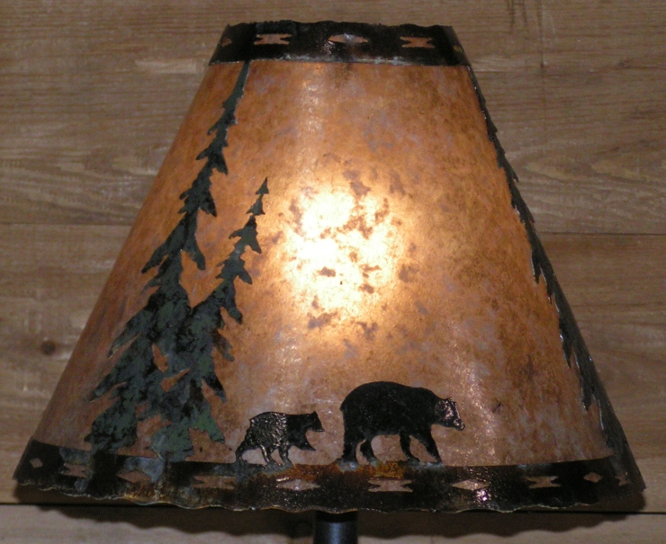 Bear Family Mica Lamp Shades