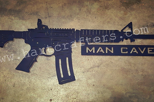 AR-15 Man Cave directional sign