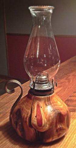 Rustic Cedar Oil Lamps
