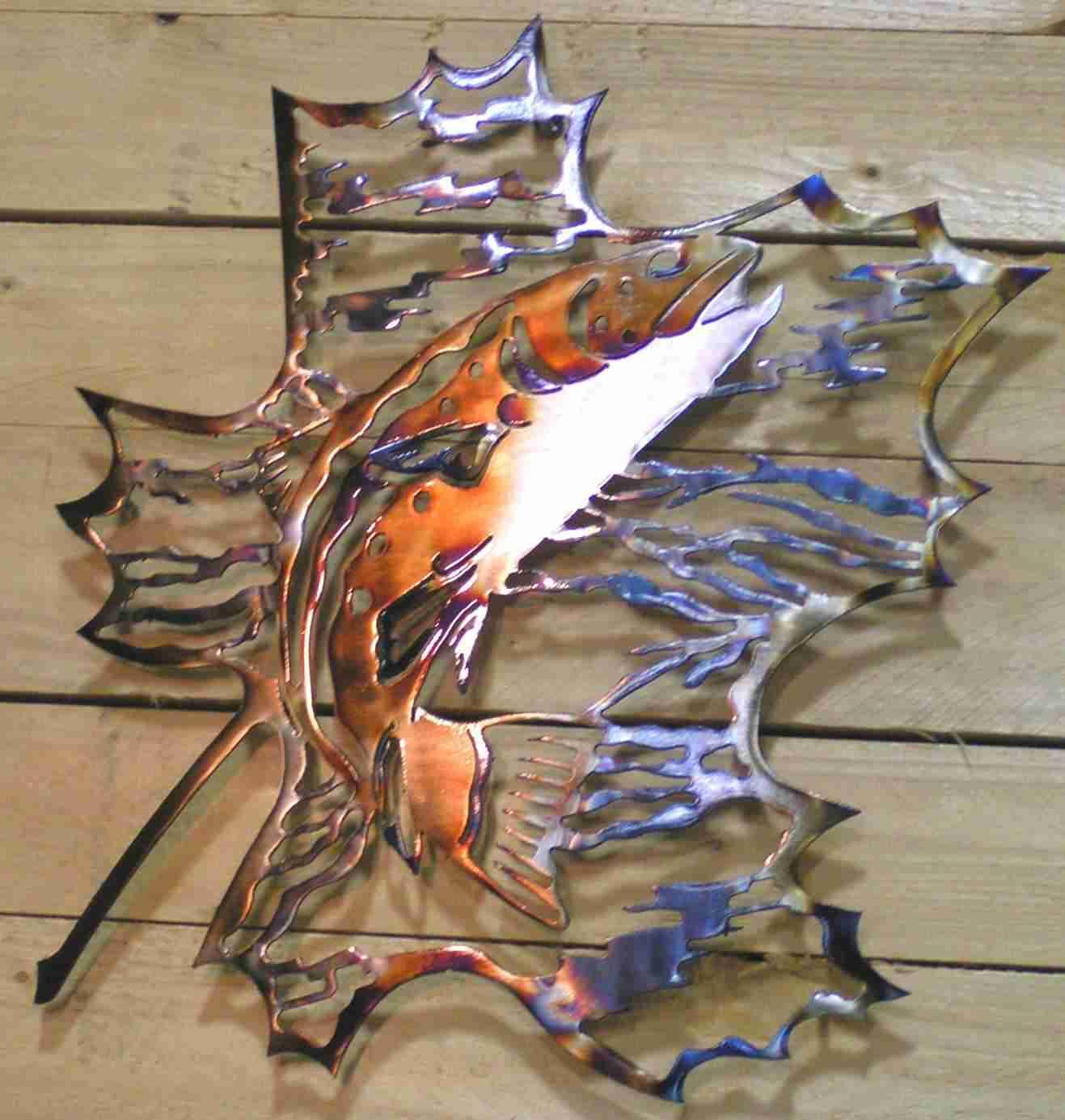Trout Metal art