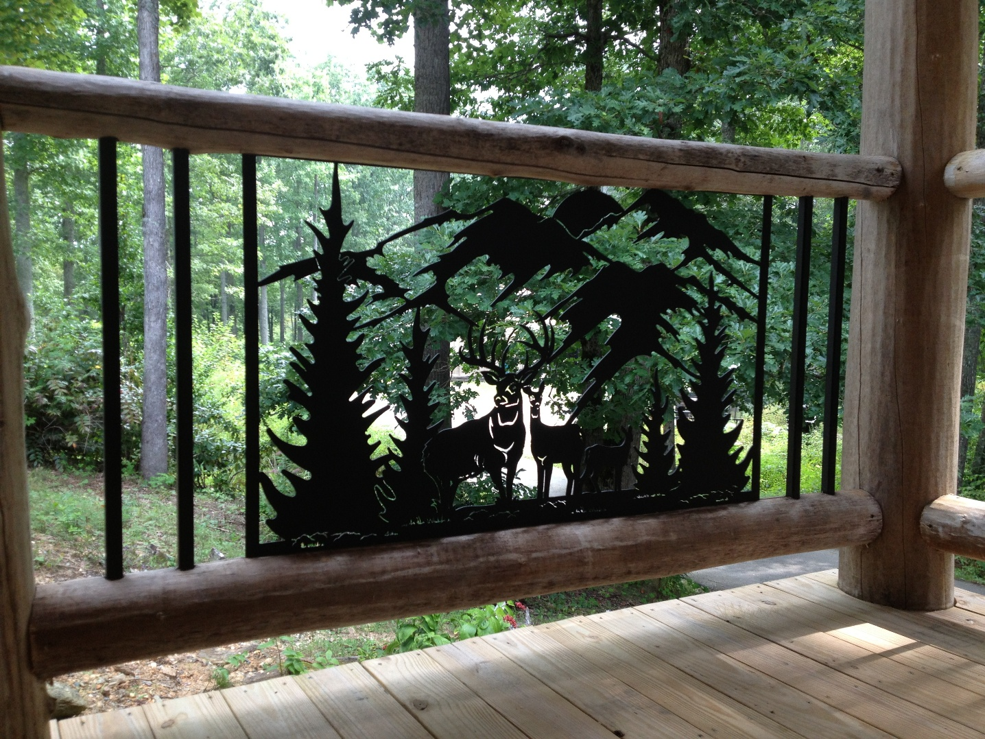Custom outdoor railing panels