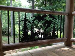 Custom outdoor railing panels