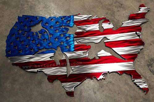 united,states,flag,wall,art
