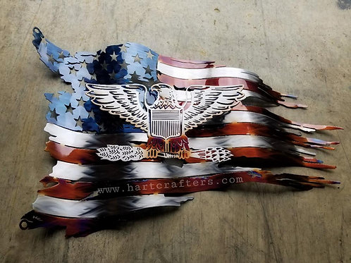 airforce,metal,art,american,flag